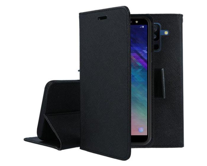 Tel1 Fancy Diary Θήκη Πορτοφόλι με δυνατότητα Stand Black (Samsung Galaxy A6 Plus 2018)