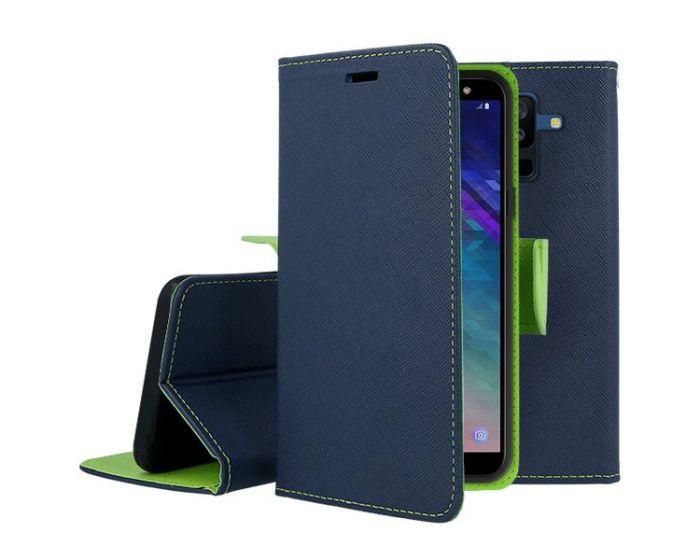 Tel1 Fancy Diary Θήκη Πορτοφόλι με δυνατότητα Stand Navy / Lime (Samsung Galaxy S4)