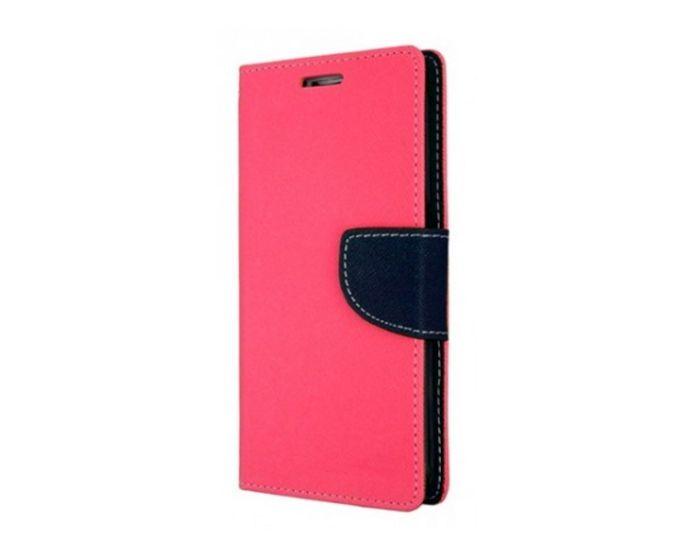 Tel1 Fancy Diary Case Θήκη Πορτοφόλι με δυνατότητα Stand Pink / Navy (Lenovo Vibe B)
