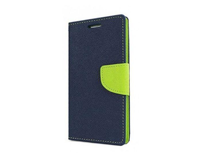 Tel1 Fancy Diary Case Θήκη Πορτοφόλι με δυνατότητα Stand Navy / Lime (Samsung Galaxy S8 Plus)