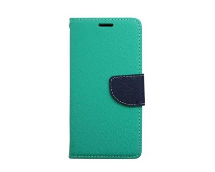 Tel1 Fancy Diary Θήκη Πορτοφόλι με δυνατότητα Stand Mint / Navy (Sony Xperia X Performance)