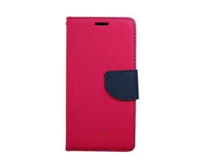 Tel1 Fancy Diary Θήκη Πορτοφόλι με δυνατότητα Stand Pink / Navy (Sony Xperia X Performance)