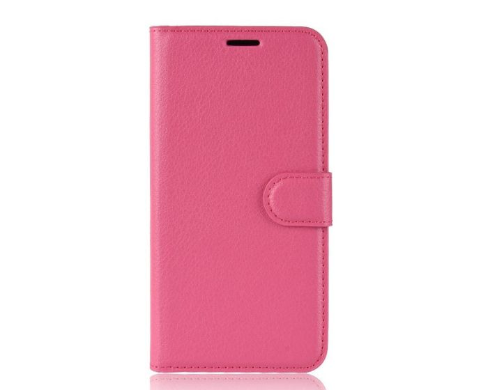 Flexi Book Case Θήκη Πορτοφόλι με δυνατότητα Stand Rose (Alcatel 1s 2019)