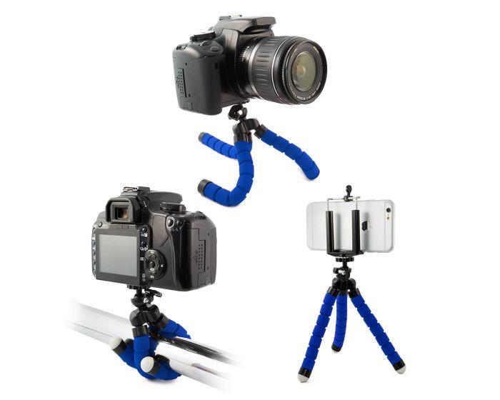 Universal Flexible Mini Tripod Μπλε για Κινητά και Φωτογραφική Μηχανή