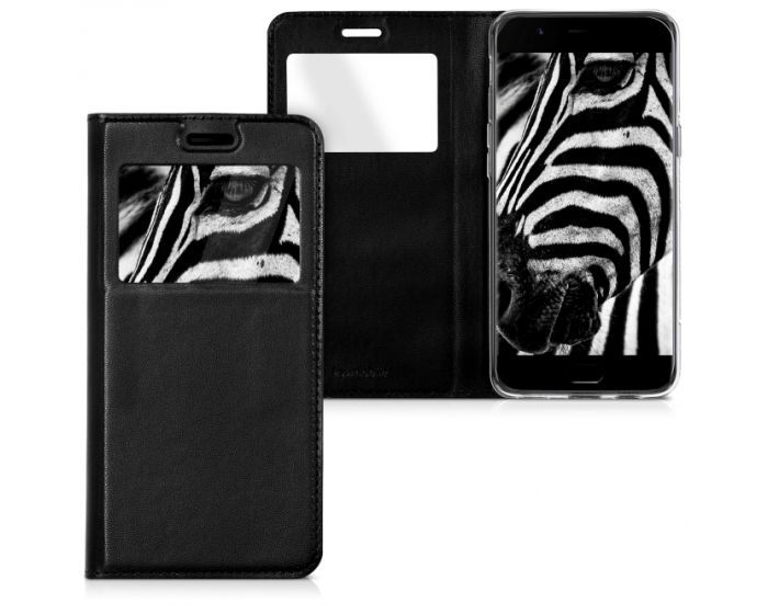 KWmobile S View Window Preview Flip Case Stand (41929.01) Black (OnePlus 5)
