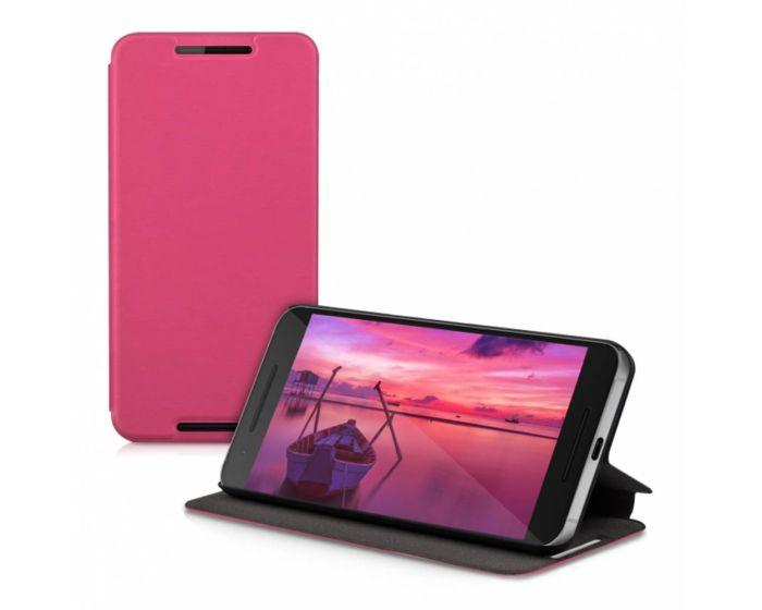 KWmobile Θήκη Flip Case με Δυνατότητα Πλάγιας Στήριξης (35302.08) Ροζ (Huawei Nexus 6P)