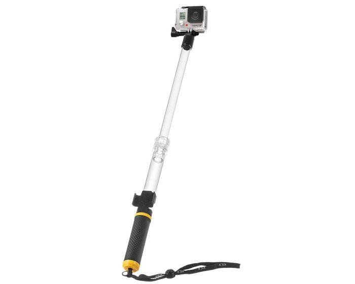 Αδιάβροχο Float Selfie Pole Monopod Πτυσσόμενο για Action Camera GoPro / SJCAM - Black