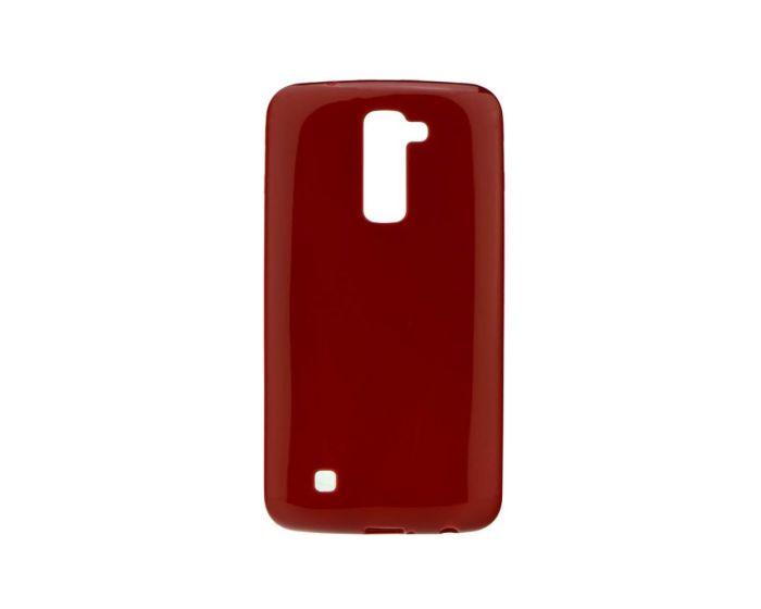 Forcell Jelly Flash Slim Fit Case Θήκη Gel Burgundy (LG K8)