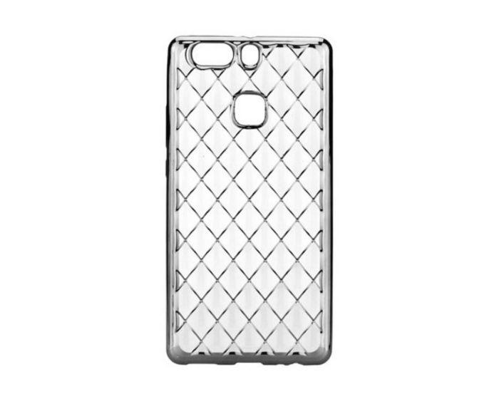Forcell Luxury Diamonds Slim Fit Gel Case Θήκη Σιλικόνης Black (Huawei P9 Plus)