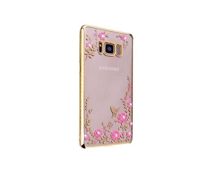 Forcell Strass TPU Case Diamond Garden - Θήκη σιλικόνης με Στρας Gold (Samsung Galaxy S8 Plus)