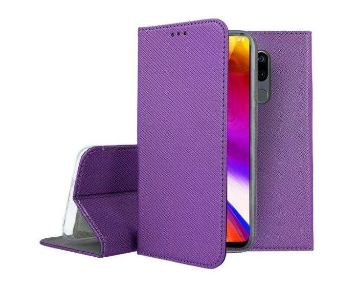 Forcell Smart Book Case με Δυνατότητα Stand Θήκη Πορτοφόλι Purple (LG G7 ThinQ)