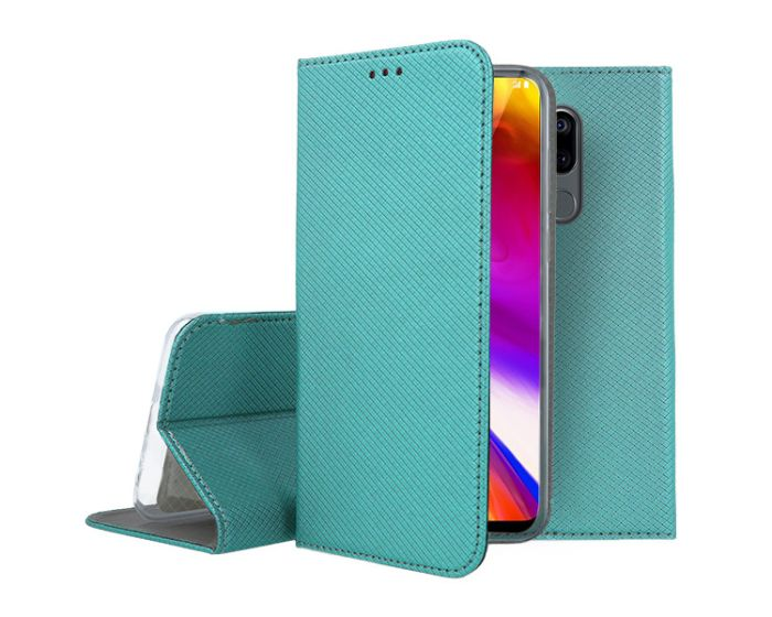 Forcell Smart Book Case με Δυνατότητα Stand Θήκη Πορτοφόλι Turquoise (LG G7 ThinQ)
