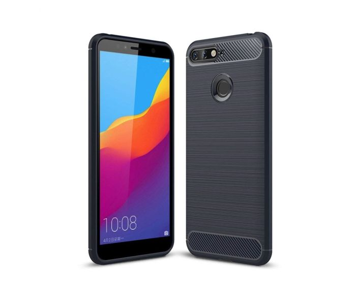 TPU Carbon Rugged Armor Case - Blue (Huawei Y6 Prime 2018)