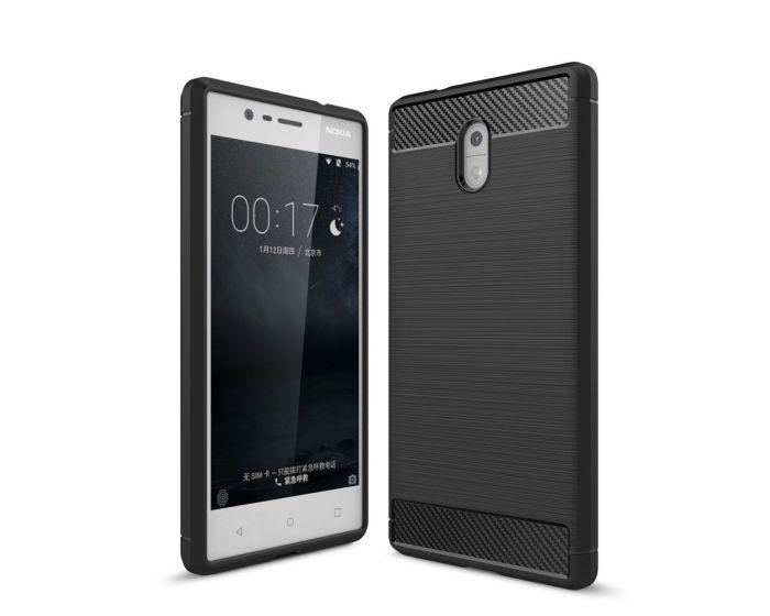 TPU Carbon Rugged Armor Case Black (Nokia 3)
