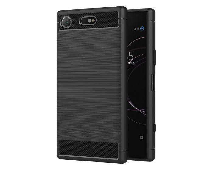 TPU Carbon Rugged Armor Case - Black (Sony Xperia XZ1 Compact)