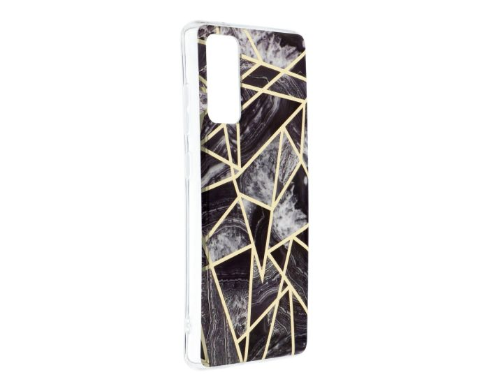 Forcell Cosmo Marble Silicone Case Design 07 Θήκη Σιλικόνης Black (Samsung Galaxy S20 FE)