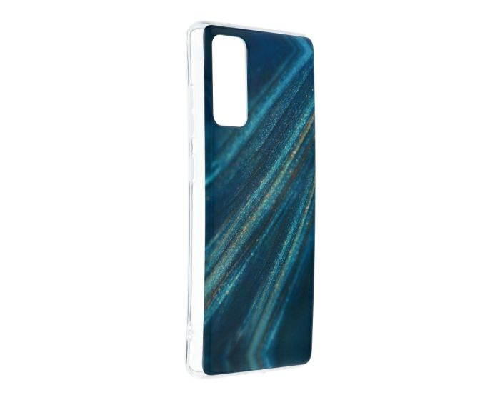 Forcell Cosmo Marble Silicone Case Design 10 Θήκη Σιλικόνης Blue (Samsung Galaxy S20 FE)