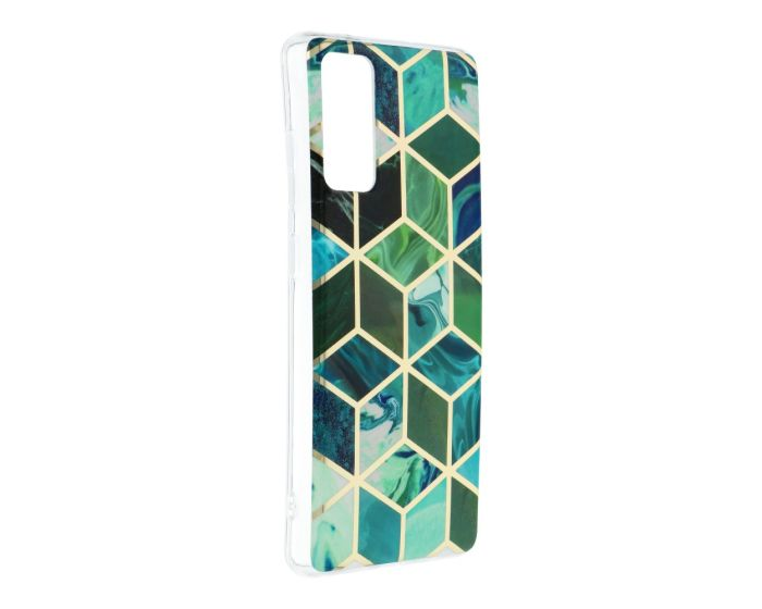 Forcell Cosmo Marble Silicone Case Design 08 Θήκη Σιλικόνης Green (Samsung Galaxy S20 FE)