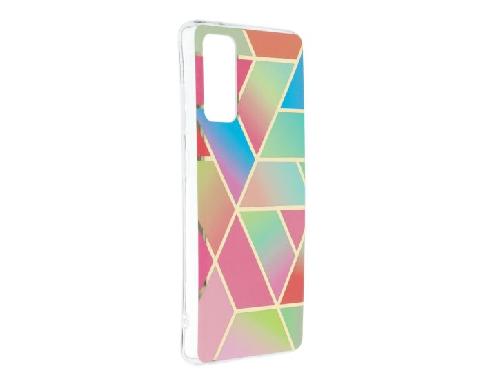 Forcell Cosmo Marble Silicone Case Design 04 Θήκη Σιλικόνης Multicolor (Samsung Galaxy S20 FE)