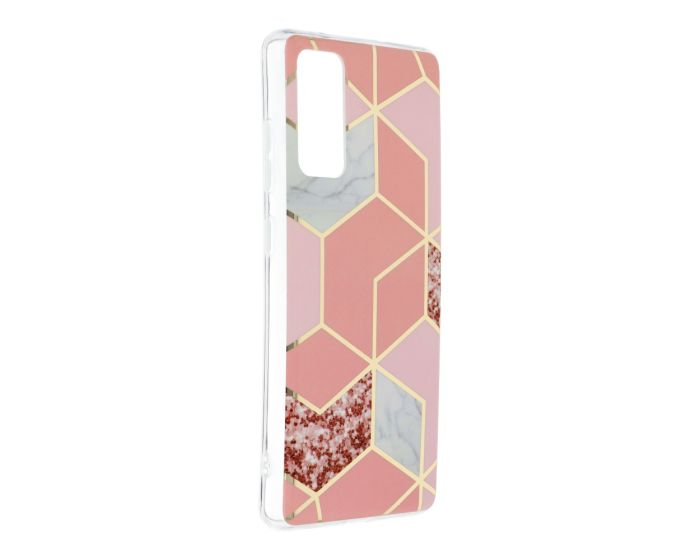 Forcell Cosmo Marble Silicone Case Design 02 Θήκη Σιλικόνης Pink (Samsung Galaxy S20 FE)