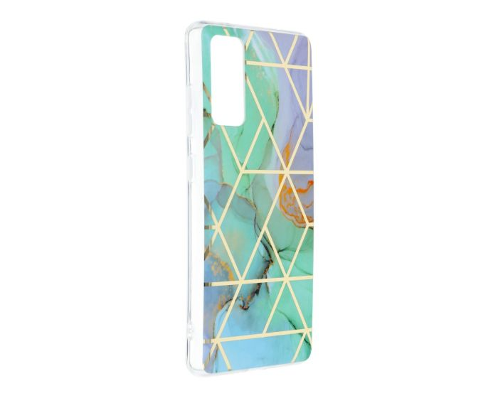 Forcell Cosmo Marble Silicone Case Design 03 Θήκη Σιλικόνης Purple / Green (Samsung Galaxy S20 FE)