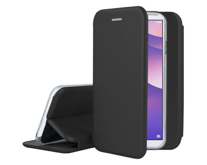Forcell Elegance Book Case με Δυνατότητα Στήριξης -  Black (Huawei Y6 Prime 2018)