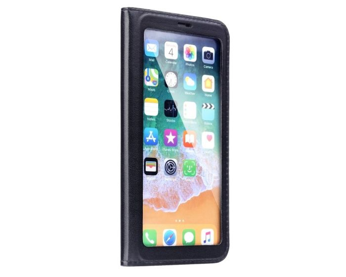 Forcell Full View Book Flip Case Stand - Black (Xiaomi Redmi 5A)