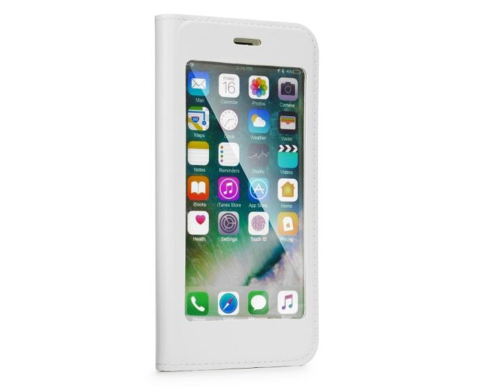 Forcell Full View Book Flip Case Stand - White (Xiaomi Redmi 5A)