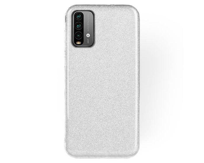 Forcell Glitter Shine Cover Hard Case Silver (Xiaomi Poco M3 / Redmi 9T)