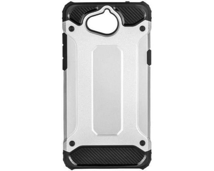 Forcell Hybrid Tech Armor Case Ανθεκτική Θήκη - Silver (Huawei Y5 2017 / Y6 2017)