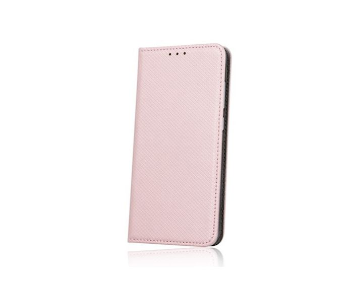 Forcell Magnet Wallet Case Θήκη Πορτοφόλι με δυνατότητα Stand Rose Gold (Xiaomi Redmi 7)