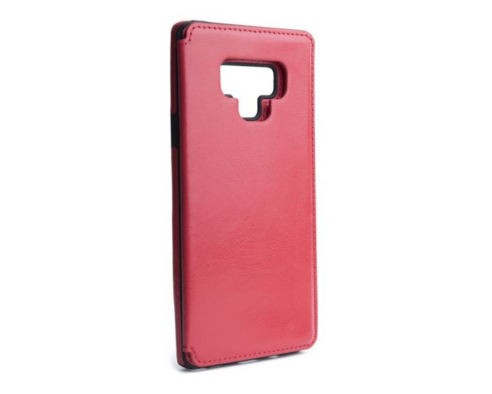 Forcell PU Leather Flip Back Wallet Case Θήκη Πορτοφόλι Red (Samsung Galaxy Note 9)