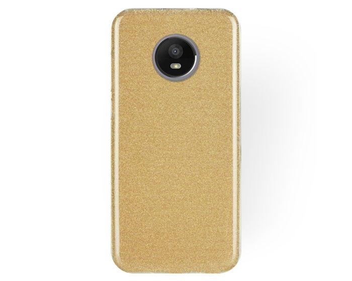 Forcell Glitter Shine Cover Hard Case Gold (Motorola Moto E4 Plus)