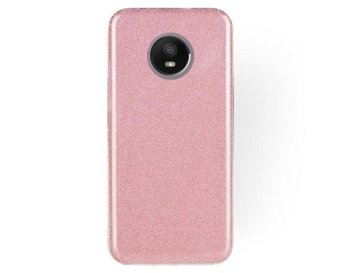 Forcell Glitter Shine Cover Hard Case Pink (Motorola Moto E4 Plus)