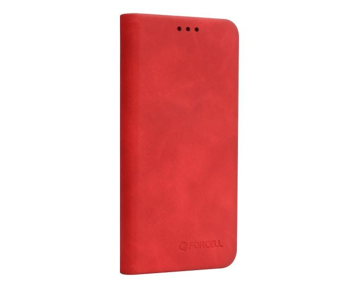 Forcell Silk Wallet Case Θήκη PU Leather με Δυνατότητα Stand - Red (iPhone XR)