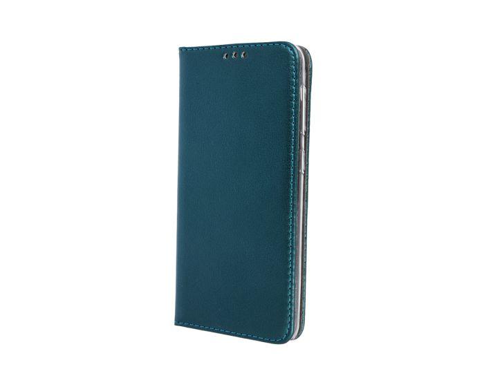 Forcell Magnet Wallet Case Θήκη Πορτοφόλι με δυνατότητα Stand Dark Green (Huawei Y5 2018 / Y5 Prime 2018)