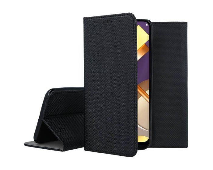 Forcell Smart Book Case με Δυνατότητα Stand Θήκη Πορτοφόλι Black (Nokia 3.4)
