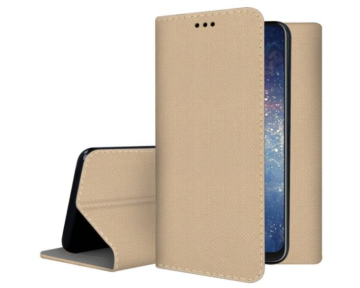 Forcell Smart Book Case με Δυνατότητα Stand Θήκη Πορτοφόλι Gold (Nokia 8.3 5G)