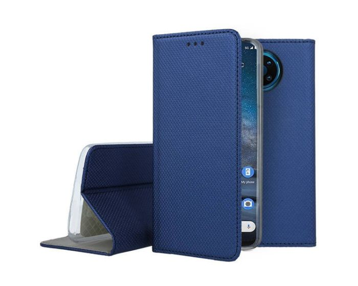 Forcell Smart Book Case με Δυνατότητα Stand Θήκη Πορτοφόλι Navy Blue (Nokia 8.3 5G)