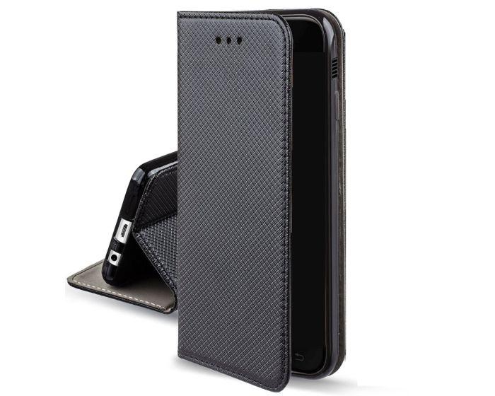 Forcell Smart Book Case με Δυνατότητα Stand Θήκη Πορτοφόλι Black (Motorola Moto E4 Plus)