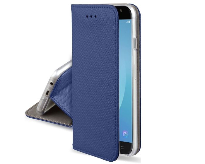 Forcell Smart Book Case με Δυνατότητα Stand Θήκη Πορτοφόλι Navy Blue (Lenovo Vibe P2)