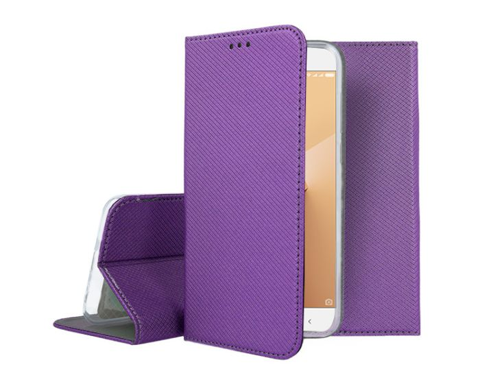 Forcell Smart Book Case με Δυνατότητα Stand Θήκη Πορτοφόλι Purple (Xiaomi Redmi Note 5A)