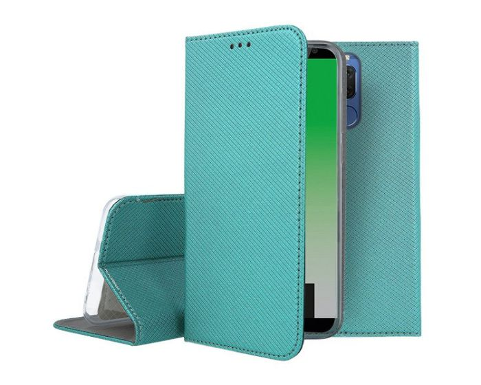 Forcell Smart Book Case με Δυνατότητα Stand Θήκη Πορτοφόλι Turquoise (Huawei Mate 10 Lite)