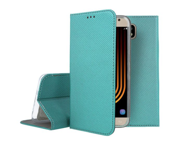 Forcell Smart Book Case με Δυνατότητα Stand Θήκη Πορτοφόλι -Turquoise (Samsung Galaxy J7 2017)