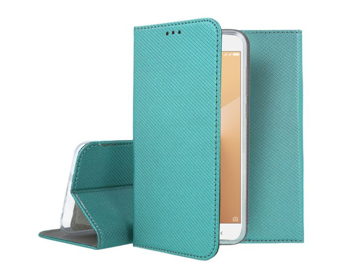 Forcell Smart Book Case με Δυνατότητα Stand Θήκη Πορτοφόλι Turquoise (Xiaomi Redmi Note 5A)