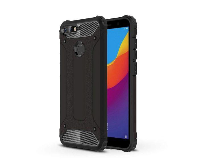 Forcell Hybrid Tech Armor Case Ανθεκτική Θήκη - Black (Huawei Y6 Prime 2018)