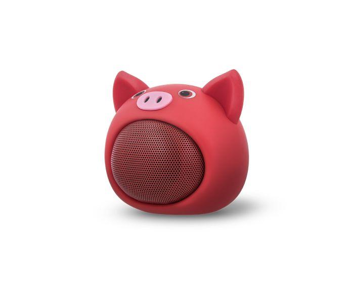 Forever Bluetooth Speaker ABS-100 Ασύρματο Ηχείο Sweet Animal Pig Rose