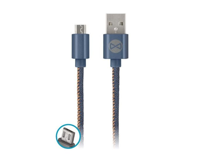 Forever Jeans Cable Micro USB Data Sync & Charging 2A 1m
