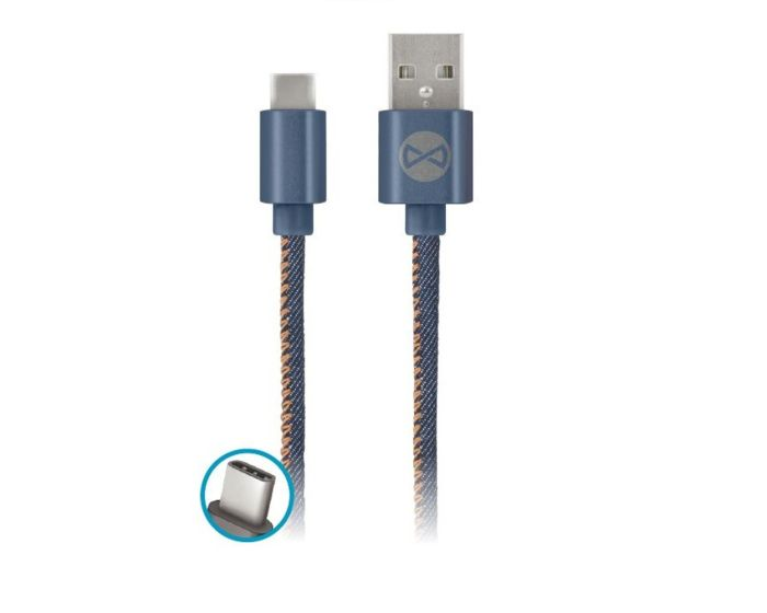 Forever Jeans Cable USB Type-C Data Sync & Charging 2A 1m