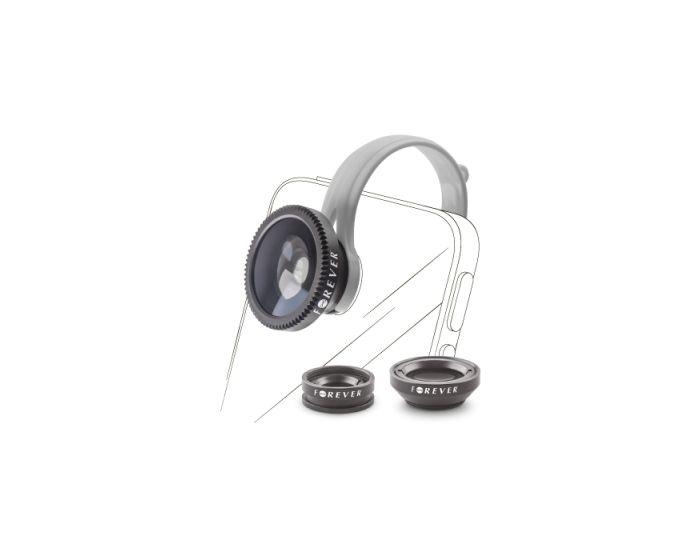 Forever Set Universal Lens 3 in 1 Σετ Φακών για Κινητά SL-100